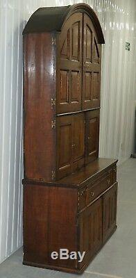 Très Rare Circa 1740 Continental Bombe Chêne Commode Armoire Tiroirs Cabinet