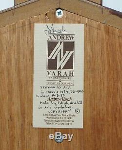 Très Rare Original Signé Daté 1989 Andrew Varah Umbrella Men Rosewood Armoire