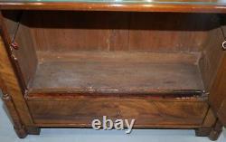 Très Rare Superbe Pleine Époque Victorienne Taille D'une Noix Boissons Cabinet + Lumière Interne