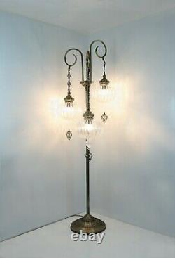 Turkish Lamp, Sol Debout Côté Vitrail Lampe Marocaine, Lampadaire