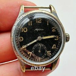 Ultra Rare 1940's Ww2 German Air Force-issue D Alpina 592 Montre Vintage Gents