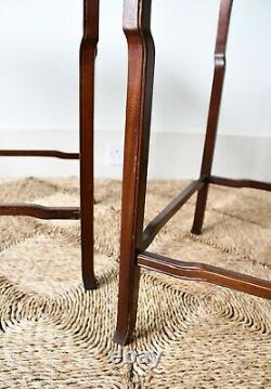 Une Paire De Tables De Chaises Chinoises Orientales En Bois Franc Salle De Lit Side Canapé