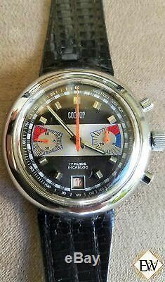 Valjoux 7734 Chronographe Date De Régate Style Nos Racing Vintage Codhor 60