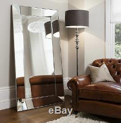 Vasto X Large Mur De Plancher Maigre Vénitien Mirror Wide Bevelled Frame 183cm X 91cm