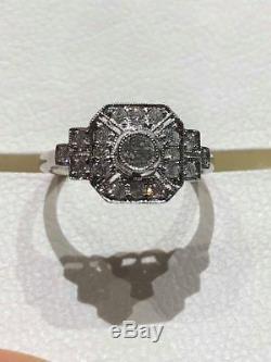 Vente Clearance Bague Art Déco Bague Style 18ct Diamant Bague En Or Blanc Goy653
