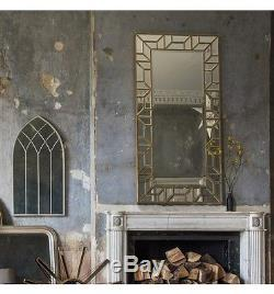 Verbier Grand Miroir De Mur De Plancher Plus Mince Moderne Rectangle D'or157x80cm