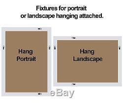 Verbier Grand Miroir Mural Rectangulaire Rectangulaire Or Peint Or 46,5 X 35
