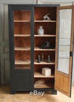 Verre Peint Vintage Antique Noir Déco Meuble De Rangement Cabinet