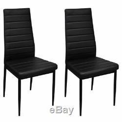 Verre Table À Manger Et 4 Chaises Seat Set Noir Restaurant Accueil Mobilier Moderne