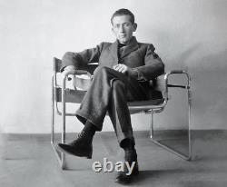Very Rare 1962 Marcel Breuer Blue Canvas Wassily Chair Édition Limitée