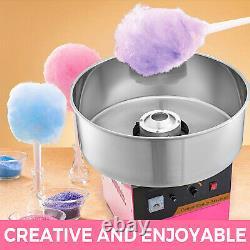 Vevor Candy Floss Machine Panier Pink Cotton Sugar Maker Commercial Electric