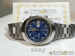 Vintage 1970 Bucherer 7000 Incabloc Chronographe Jour Date Valjoux 7750 Montre