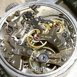 Vintage Années 1950 Rensie Militaire Up Down Chronograph Venus 170 Montre