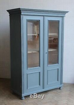 Vintage Antique Painted Larder Linge De Presse Cabinet De Verre Armoire Armoire