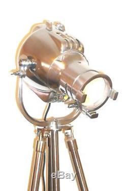 Vintage Bbc Tv Studio Light Antique Art Déco Lampadaire Industriel Strand 23 Années 60