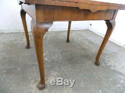 Vintage, Déco, Années 1920, L'extension, Dessiner Feuille, Noyer, Table À Manger, Les Jambes De Cabriole, Table
