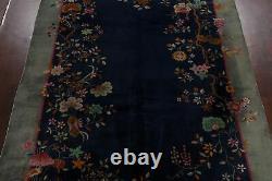 Vintage Dye Légume Art Déco Nichols Chinese Area Rug Tapis 9x11 Tricoté À La Main