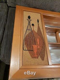 Vintage Illinois Molding Co. Milieu Du Siècle Ombre Mirrored Boîte Miroir