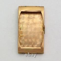 Vintage Longines 17j 9l Rare Ruby Et Diamond Cadran 14k Rose Or Montre
