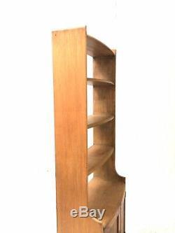 Vintage Milieu Du Siècle 1950 Elm Ercol Style Rustique Girafe Bibliothèque Buffet