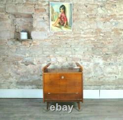 Vintage Milieu Du Siècle Style Art Déco Années 1950 Cocktail Boissons Aux Noix Cabinet 1960s