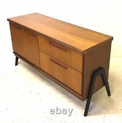 Vintage Retro MID Century Danois Des Années 1960 Teck Modernist Sideboard Lp Cabinet