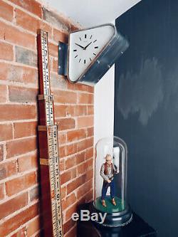 Vintage Seiko Double-sided Style Horloge Murale Art Déco Bateau