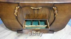 Vintage Stonehill Art Déco Boissons Cabinet Cocktail Cabinet Buffet