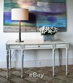 Vintage Suédois Gustavien Faux Marbre Salle Console Lampe De Bureau Canapé Table D'appoint