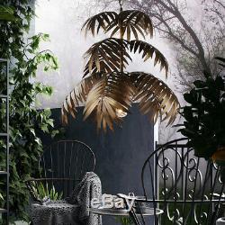 Vintage Tropical Coconut Feuilles Lustre Rustique Arbre Lampe Suspendue Lumière
