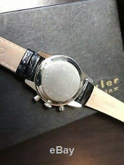 Vintage Wyler 1502/5 Maître Nageur Valjoux 72 Panda Montre Chronographe Withbox No Resv