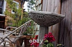 (nouveau) Grand Bain D'oiseau De Style Art Nouveau Deco, Pierre De Béton, Ornement De Jardin
